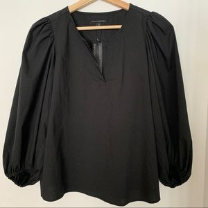 NWT Banana Republic Balloon-Sleeve BLACK top